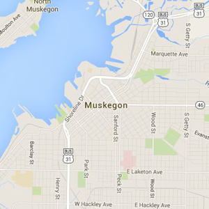 Map of Muskegoin
